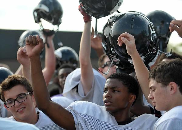 The Roseville High School football team gets ready for the 2015 season.  (MIPrepZone photo gallery by David Dalton)